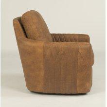 Poppy Leather Swivel Chair