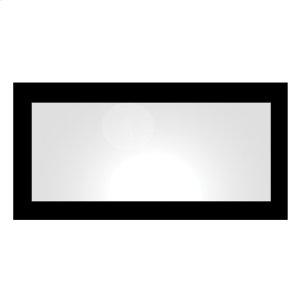 Aeri rectangular-shaped mirror with laminated black or white glass frame. Product Image