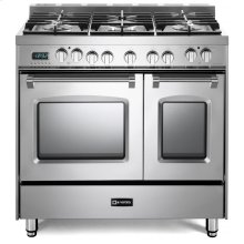 "Stainless Steel 36"" Prestige Dual Fuel Double Oven Range"