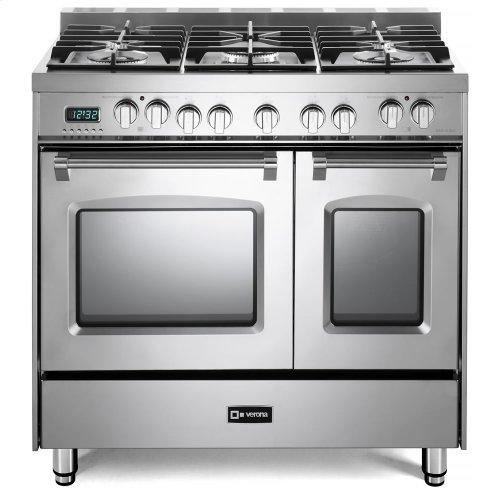 "Stainless Steel 36"" Prestige Dual Fuel Double Oven Range"
