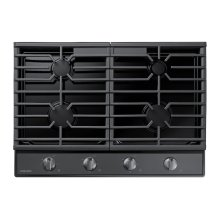 "30"" Gas Cooktop in Black Stainless Steel"