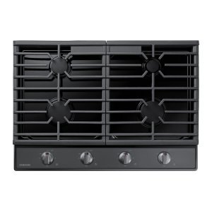"30"" Gas Cooktop in Black Stainless Steel Product Image"