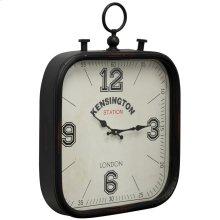 Metal & Glass Wall Clock  16in X 21in X 3in