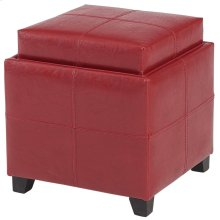 Anton II Square Storage Ottoman in Red