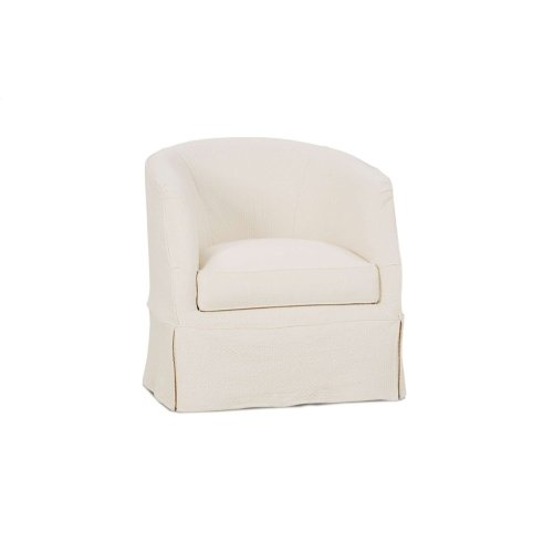 Ava Slipcover Swivel Chair