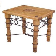 Star End Table W/ Iron Accents