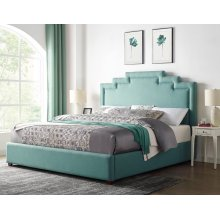 "Sadie King Footboard/Rails Seafoam 80""x24.5""x4"""