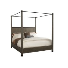 Metropolitan King Bed - Weathered Wood