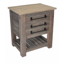 2-Drawer End Table/Nightstand