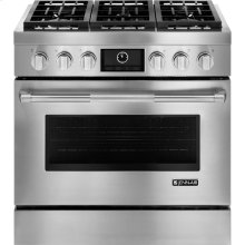"Pro-Style® 36"" Dual-Fuel Range with MultiMode® Convection, Pro-Style® Stainless Handle"