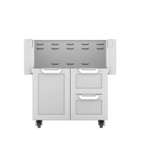 """30""""dbl Drawer and Door Cart"""
