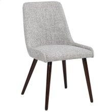 Mia Side Chair, set of 2, in Light Grey & Walnut Legs