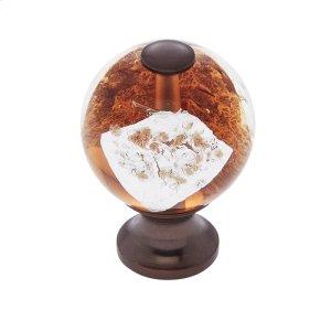 Old World Bronze 30 mm Orange Knob Product Image
