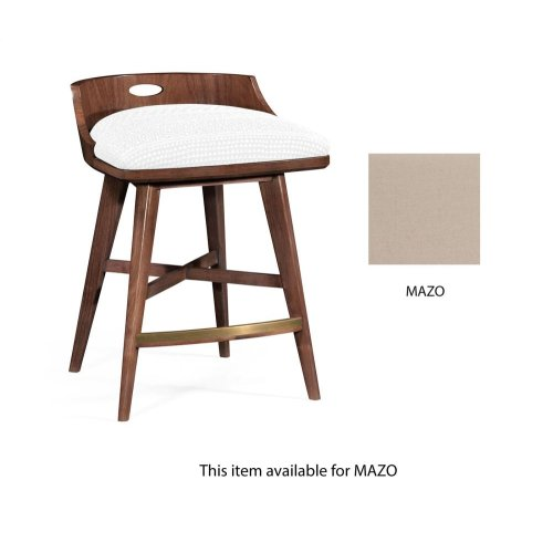 Low bar chair upholstered in MAZO