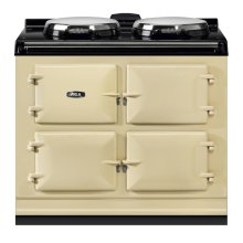 "AGA Dual Control 39"" Electric/Natural Gas Cream with Stainless Steel trim"