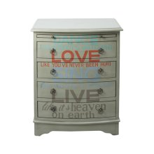 Grey Words of Wisdom Drawer Chest