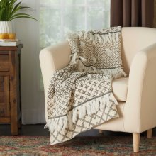 "Throw Bx089 Natural 50"" X 60"" Throw Blanket"