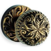Interior Ornate Knob Latchset - Solid Brass in SB (Shaded Bronze, Lacquered)