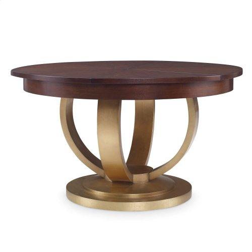 "Paris Dining Table (55"") -Gold Leaf Base"