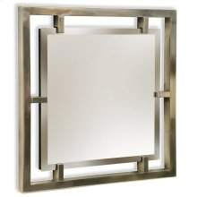 HENRY MIRROR  Silver Finish on Resin Frame  Plain Glass Beveled Mirror