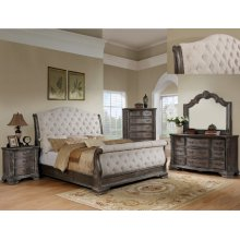 B1120 Sheffield Grey Sleigh King Bed