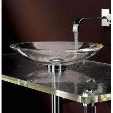 Freestanding ADA Large Round Glass Sink