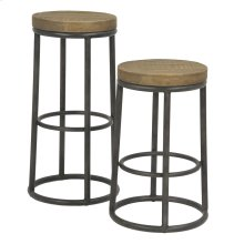 New York Round Metal Bar Stool
