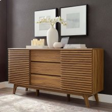 """Render 63"""" Sideboard Buffet Table or TV Stand in Walnut"""