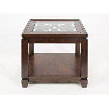 Casa Bella Chairside Table- Cherry