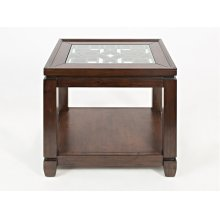 Casa Bella Chairside Table- Cherry