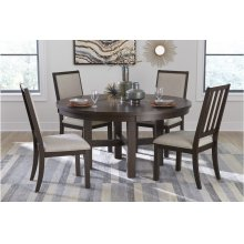 Round Dining Table with Lazy Susan