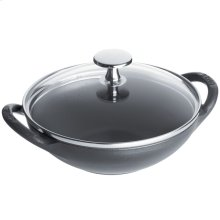 Staub Cast Iron 0.5-qt Baby Wok, Graphite Grey