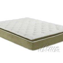 Cicely Sage Suede Queen Size Pillow Top Mattress Set