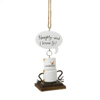"Toasted S'mores ""Naughty-and I Know It!"" Ornament. Product Image"