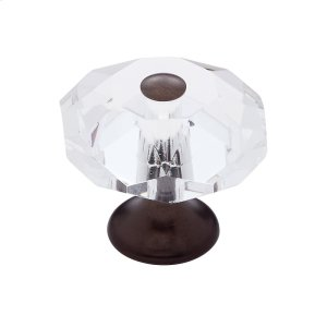Old World Bronze 35 mm 8-Sided Crystal Knob Product Image