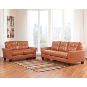 Benchcraft Paulie Living Room Set in Orange DuraBlend