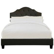 Tufted Upholstered Queen Bed in Steel Grey