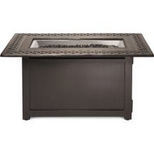 Victorian Rectangle Patioflame Table , Bronze , Propane