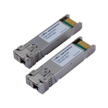 10Gb Single-mode Fiber Simplex SFP+ Module 1310nm/1270nm DFB Laser 20km over OS2 fiber