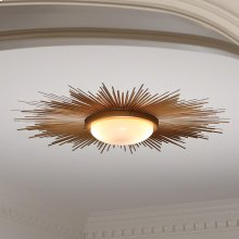 Sunburst Light Fixture-Gold