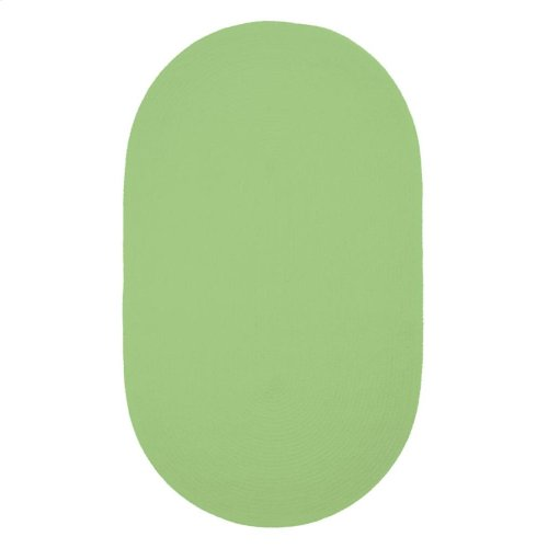 Lime Green Chenille Creations Oval