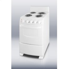 "White Pearl Electric Range In Slim 20"" Width"