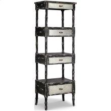 Zornes 3-drawer Etagere In Distressed Black