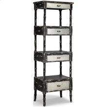 Zornes 3-drawer Etagere In Distressed Black