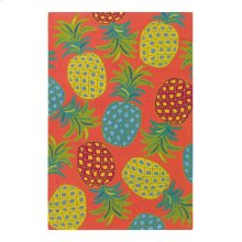Pineapples Rug, CORAL, 26X8