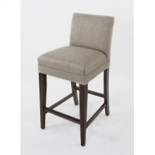 "Shorter back barstool. 24"" barstools have a seat height of 26"" when measured"
