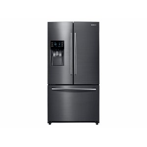 25 cu. ft. French Door Refrigerator with External Water & Ice Dispenser in Black Stainless Steel Product Image
