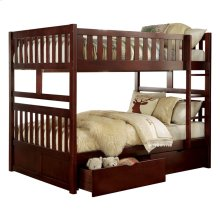 Full/Full Bunk Bed with Storage Boxes