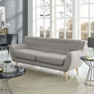 Remark Upholstered Fabric Sofa in Light Gray Product Image