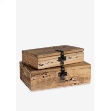 Decorative wooden box set - 2 (16x10x5 / 11x8x4)